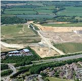 Biffa's Westmill landfill site with housing visible (picture courtesy of Biffa)