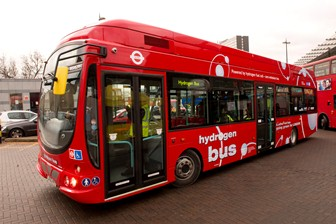 Hydrogen vehicles, such as these buses which have been running in London since 2011, produce zero emissions to air