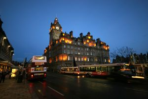 Princes Street in Edinburgh - the city council is considering Low Emission Zones in a bid to meet EU air quality targets in 2015.