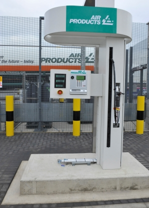A Transport for London hydrogen vehicle fuelling station in Stratford