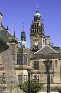 Sheffield Town Hall - an independent report states that air pollution in the city causes 500 premature deaths a year