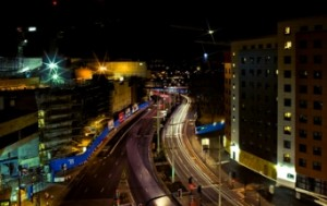Bristol city centre at night - a member of the council has called for an LEZ to be introduced in the city