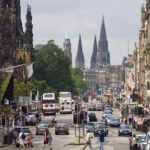 Princes Street in Edinburgh - one of the places highlighted for having poor air quality in a question lodged in the Scottish Parliament