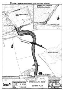 Devon county council's Crediton Link Road plans