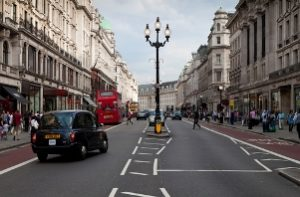 Oxford Street in London has some of the highest levels of nitrogen dioxide in the UK