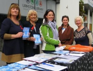 Members of the Breathe Clean Air Group campaigning in Manchester