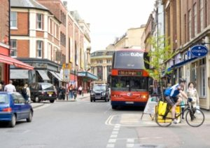 A Low Emission Zone for buses came into force in Oxford city centre on January 1 2014