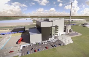 An artist's impression of the proposed Deeside energy from waste plant