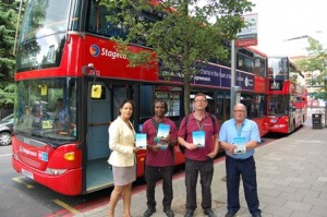 Cllr Claudia Webbe joins enforcement officers to encourage buses not to idle