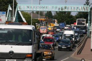 Traffic in Exeter - the council hopes to implement a strategy to tackle nitrogen dioxide emissions from the city's roads