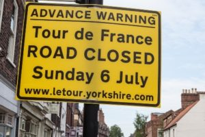 Road closures in the Kirklees region of Yorkshire during the Tour de France helped to boost air quality