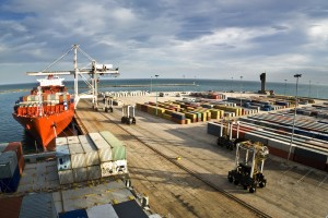The new AQMA is close to the busy shipping docks at Tilbury in Essex