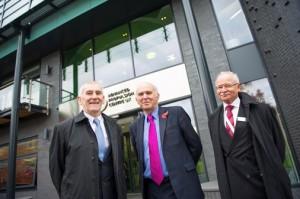 (L-R) APC chief executive Tony Pixton, business secretary Vince Cable and APC chairman Gerhard Schmidt