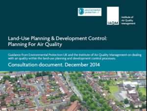 The IAQM/ EPUK draft air quality planning and development guidance has been launched for consultation