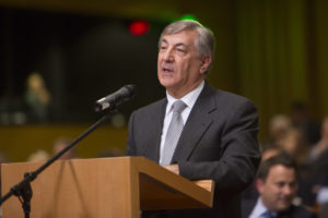 Environment Commissioner Karmenu Vella spoke at the European Council's Environment Committee this morning (December 17)