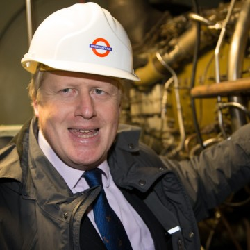 Boris Johnson toured Greenwich Power Station yesterday (January 8)