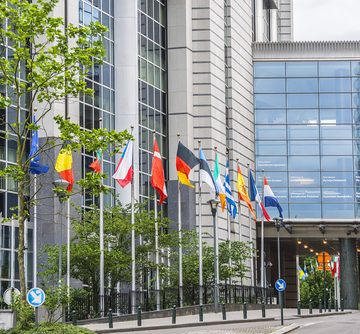 The European Parliament building in Brussels, Belgium. The Plenary later this month will take place in Strasbourg