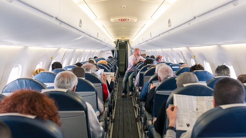 Campaigners fear that engine emissions can sometimes get into the air filtration system in an aeroplane cabin
