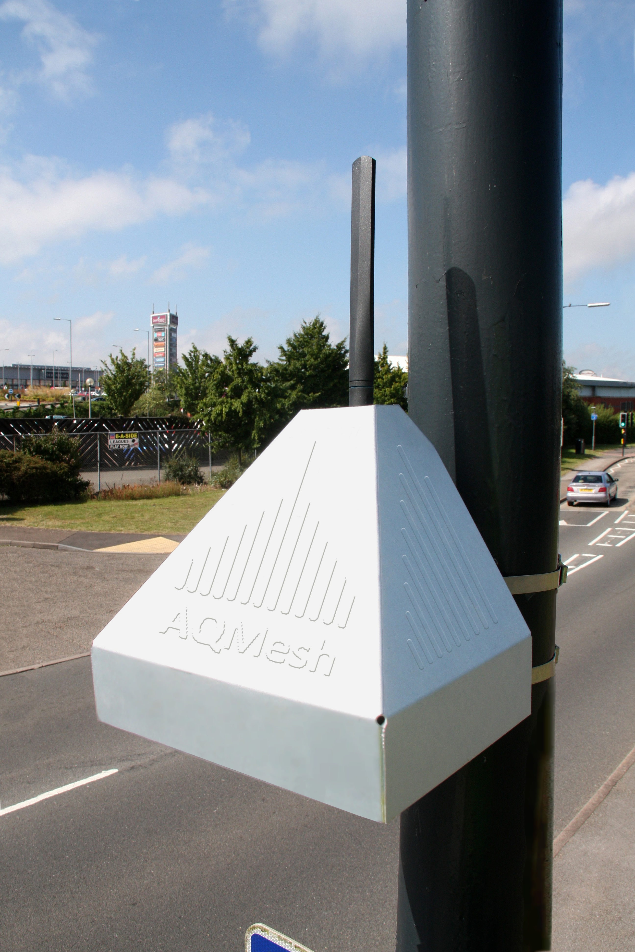 The AQMesh Pod ambient air monitor offered by Air Monitors