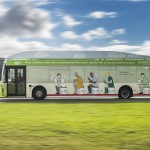 The Bio-Bus runs on biomethane produced by sewgage and