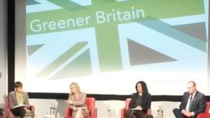 (l-r) Caroline Lucas, Green Party MP; Liz Truss, Secretary of State for Environment; Caroline Flint, Shadow Secretary for Energy & Climate Change, and; Ed Davey; Secretary of State for Energy & Climate Change