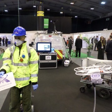 Air Monitors demonstrated its monitoring euipment on balloons, drones and electric vehicles in the main hall
