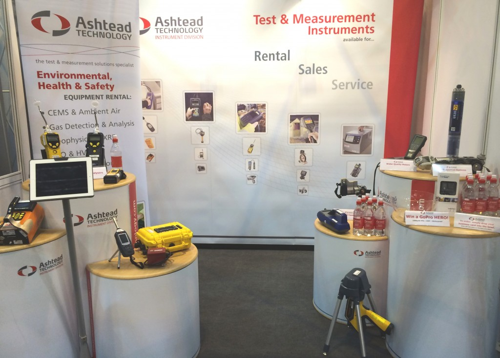 Ashtead Technology's stand at the AQE Show 2015