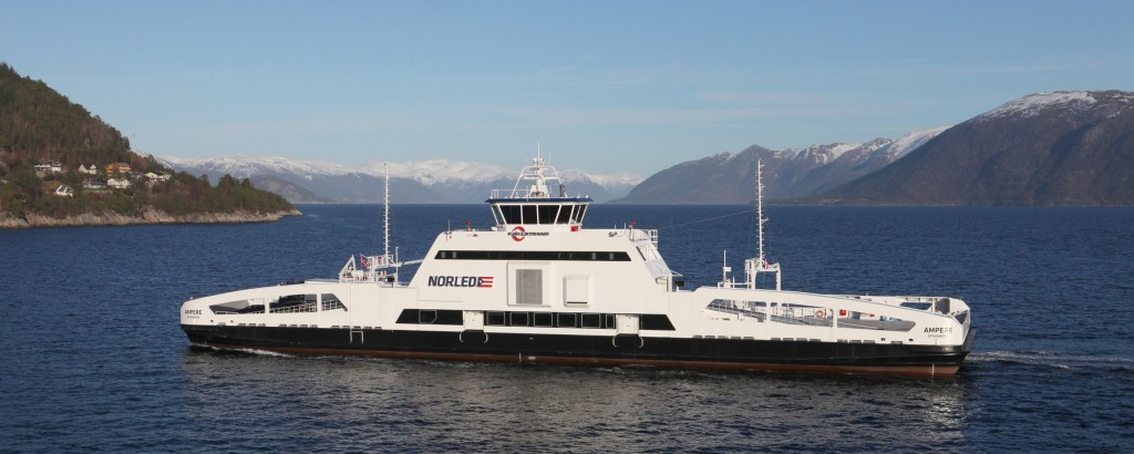 The Ampere zero emission electric ferry runs between two villages in Norway