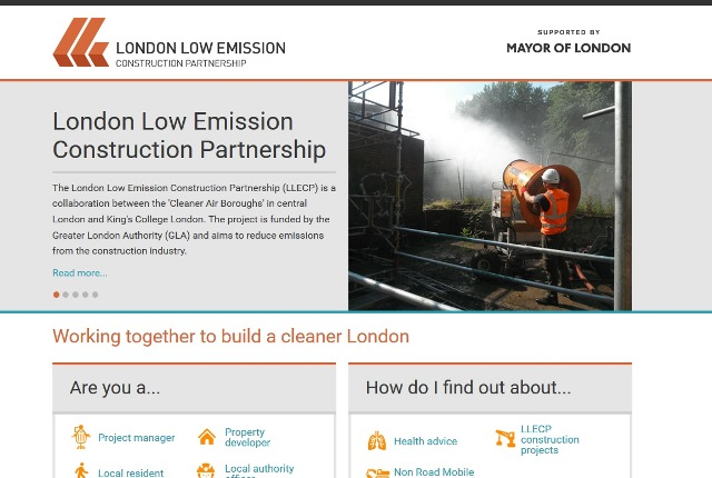Screen shot of the new LLECP website