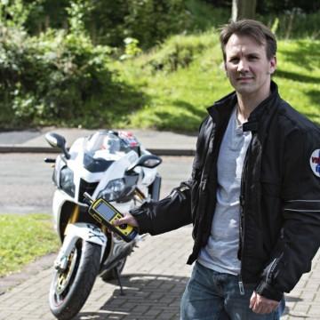 Christopher Crosby will ride his motorcycle 2,000km across Thailand
