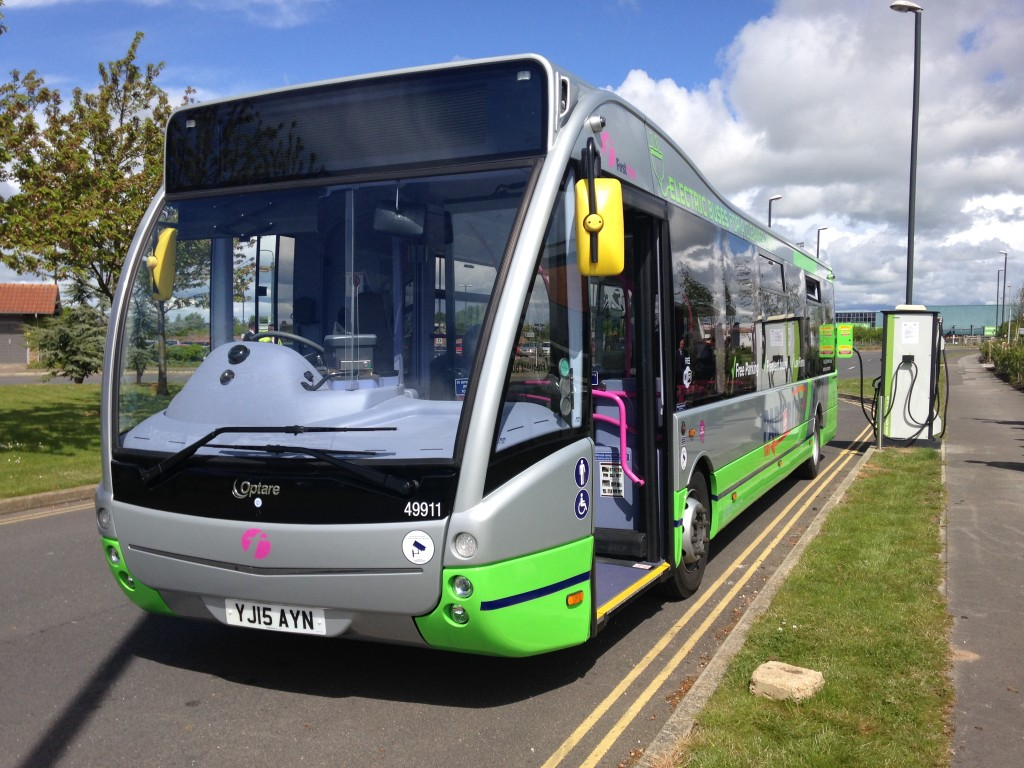 One of the new Park & Ride electric buses in York