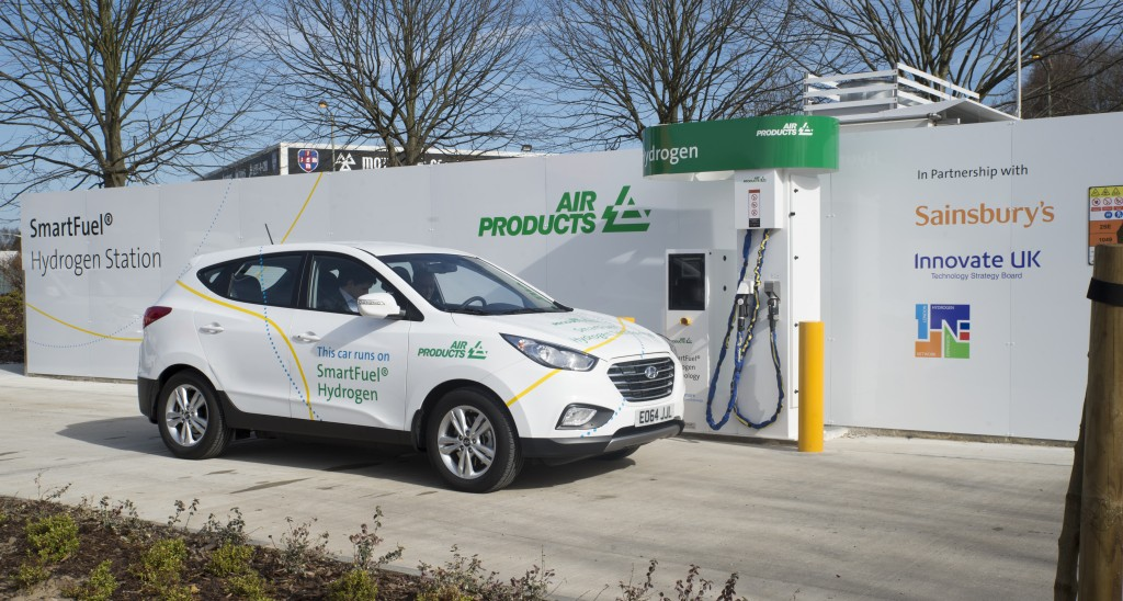 Air Products' hydrogen refuelling station at Sainsburys in Hendon is one of two which will be upgraded