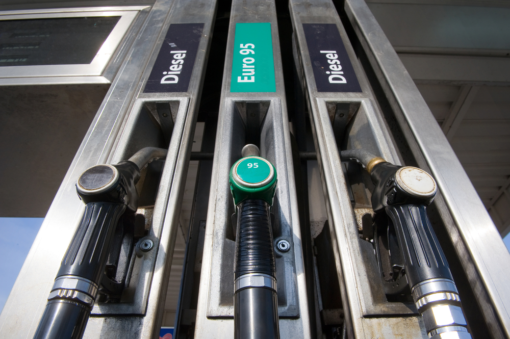 Diesel prices at the pump are falling below unleaded petrol for the first time since 2001
