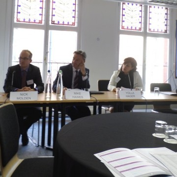 (L-R) IAQM's Dr Claire Holman, Emissions Analytics' Nick Molden, SMMT's Mike Hawes and HEAT's Yolla Hega all appeared at the Conference yesterday (October 1 2015)