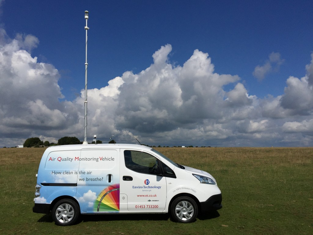 The electric, zero emission Air Quality Monitoring Vehicle developed by Enviro Technology Services plc