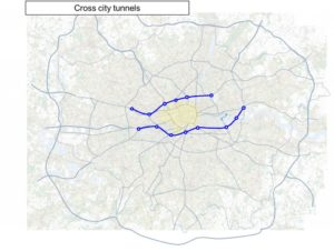 The Mayor has set out plans for two major east-west, cross-city tunnels