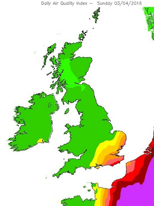 Map Of England 2016.Eu Farms Major Cause Of Uk Particle Pollution Study Claims Air