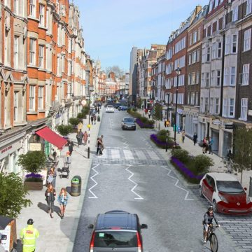 An artist's impression of the planned scheme on Marylebone High Street