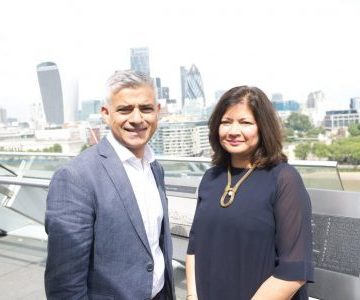 Mayor of London Sadiq Khan and his Deputy Mayor for Environment and Energy Shirley Rodrigues