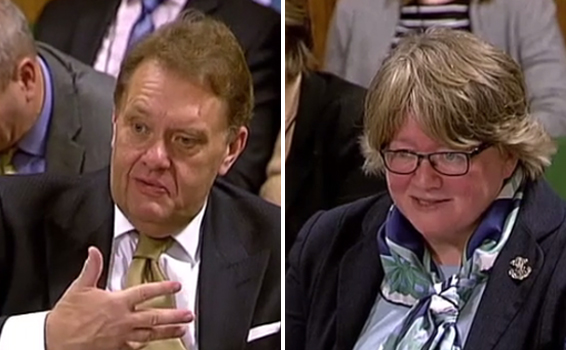 l-r: John Hayes and Therese Coffey were questioned on the government's new Air Quality Plan