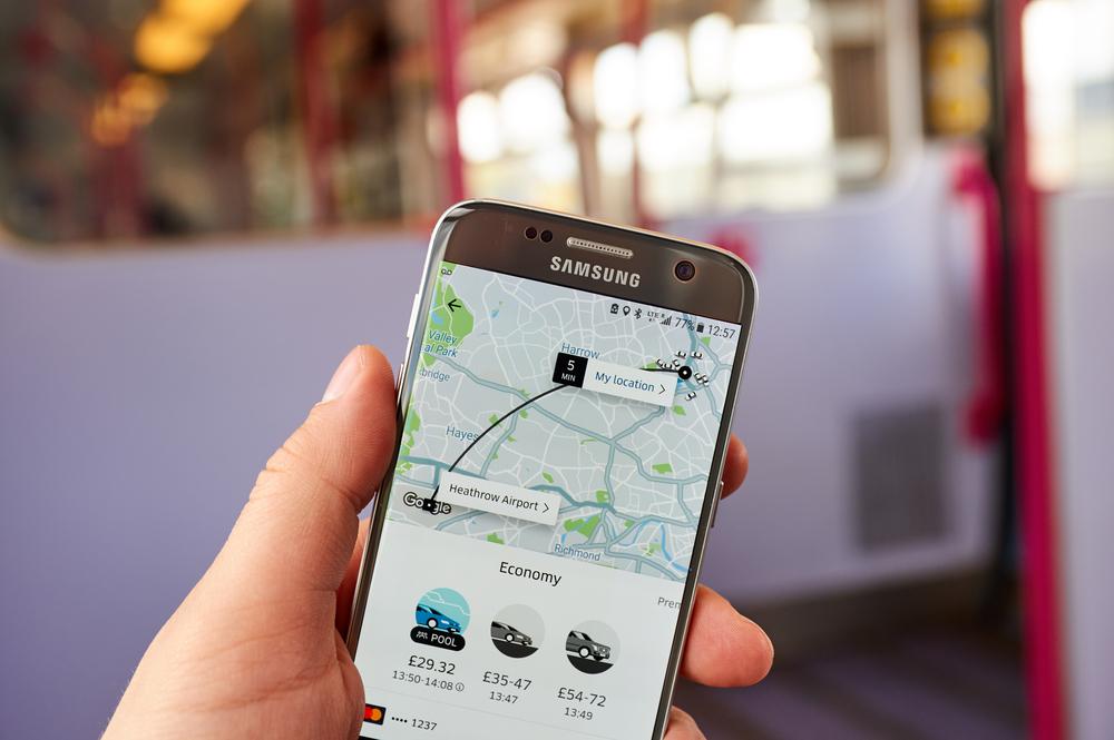 Uber app air quality