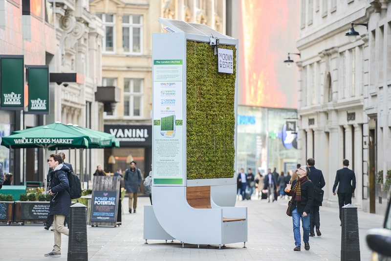 Citytree Pollution Moss Filter Launched In Westminster