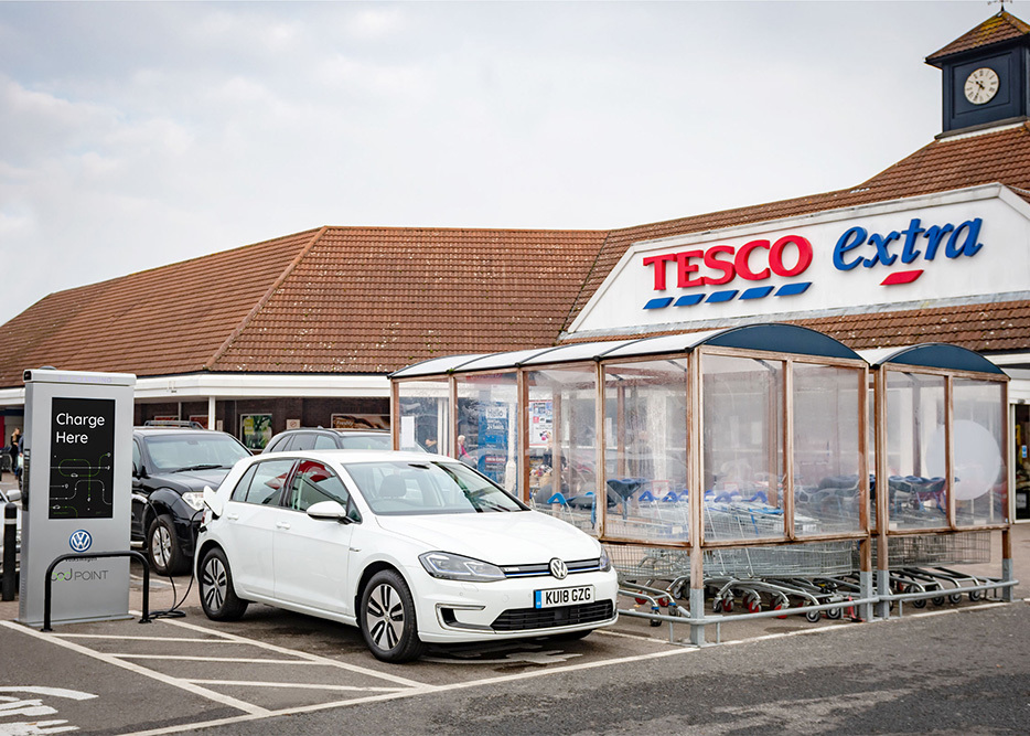 Pod Point Will Install And Operate The Charging Points At Over 600 Tesco Supermarkets