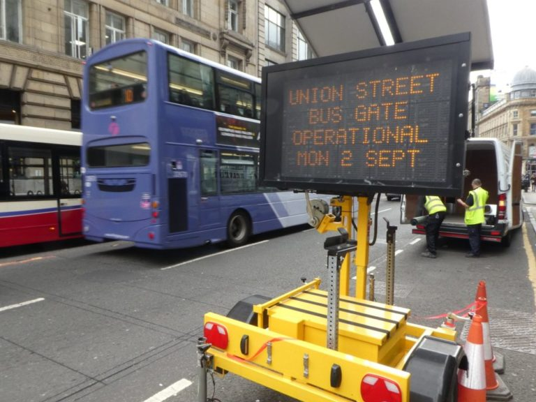 Glasgow launches bus gates to improve air quality